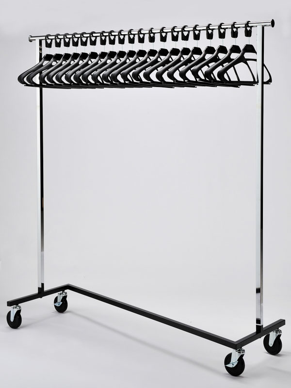 office coat racks. RACK52/BLA Mobile Chrome Rail With SPH/BLA Hangers Office Coat Racks O
